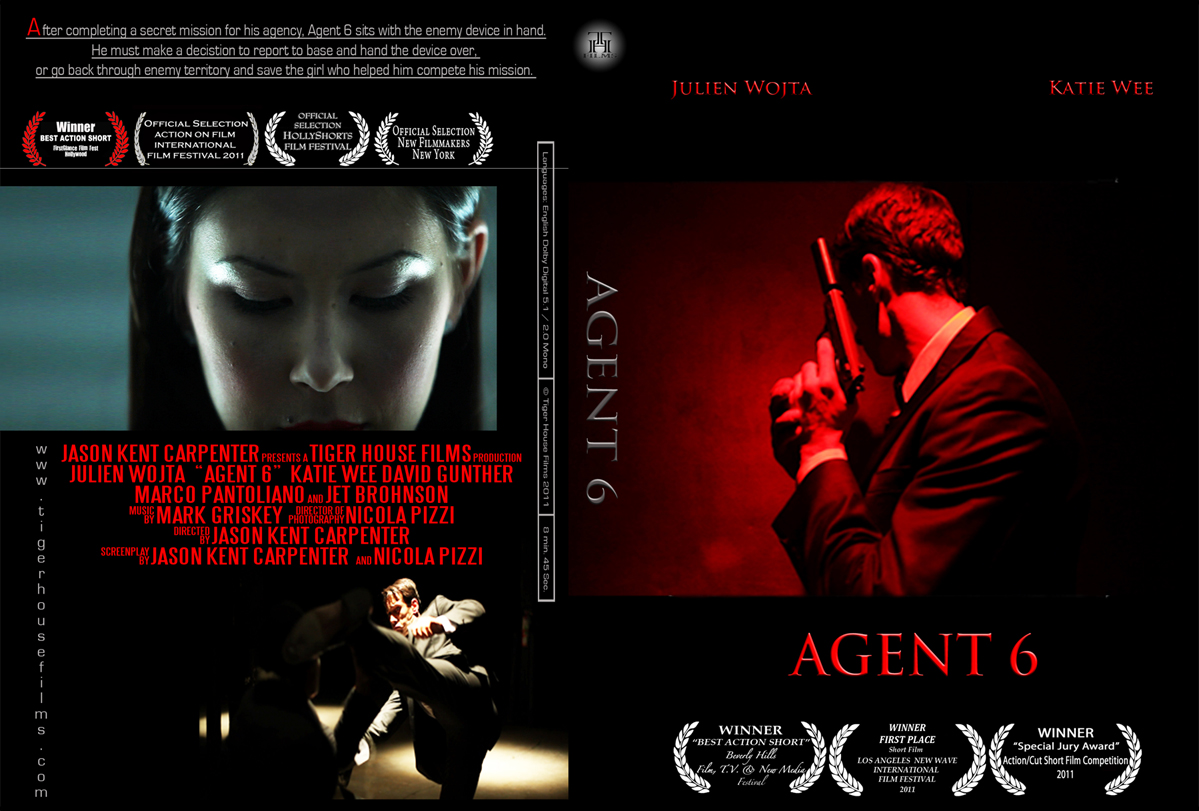 Los Angeles production company Tiger House Films Agent 6 DVD Cover